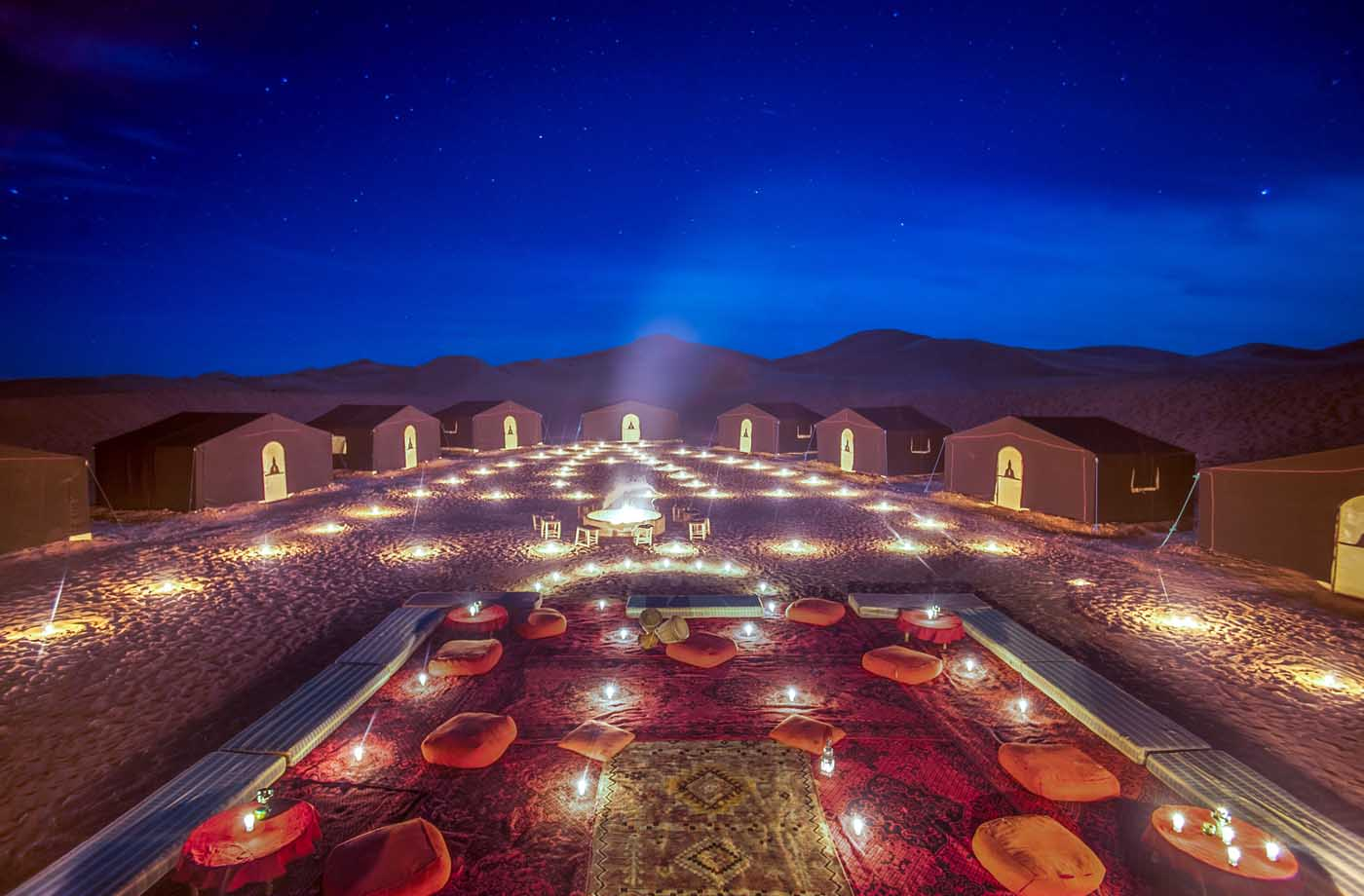 Night campt at Morocco desert Tours